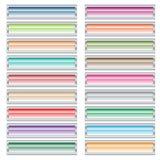 Teclas do Web ajustadas em cores pastel. Imagem de Stock Royalty Free