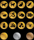 Teclas do Web do animal de estimação - selo Fotos de Stock Royalty Free
