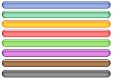 Teclas do Web do Aqua Imagens de Stock