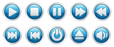 Teclas dos ícones do jogador (vetor) Imagem de Stock Royalty Free