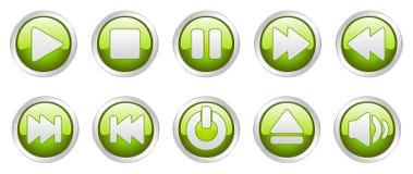 Teclas dos ícones do jogador (vetor) Imagem de Stock