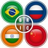 Teclas dos países de BRIC Foto de Stock Royalty Free
