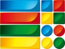 Teclas e bandeiras Fotos de Stock