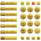 Teclas e emblemas para o comércio electrónico Fotografia de Stock