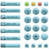 Teclas e emblemas para o comércio electrónico Fotos de Stock Royalty Free