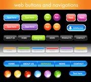 Teclas e navegações do Web Fotos de Stock