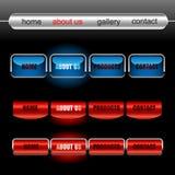 Teclas Editable do vetor do Web site Fotos de Stock