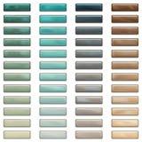 Teclas elevadas do Web do lustro em cores à moda Foto de Stock Royalty Free