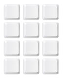Teclas em branco do teclado Fotos de Stock
