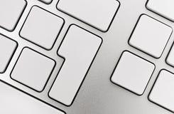 Teclas em branco no teclado ilustração stock