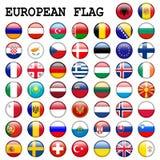 Teclas européias da bandeira Fotos de Stock
