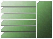 Teclas futuristas verdes da pedra da navegação do Web site ilustração stock