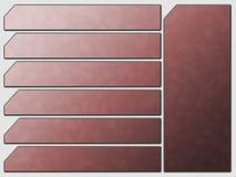 Teclas futuristas vermelhas da pedra da navegação do Web site ilustração royalty free