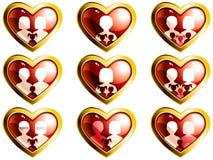 Teclas heart-shaped das famílias não-tradicionais ilustração stock
