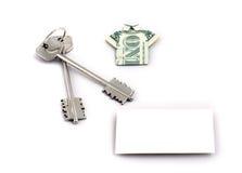 Teclas HOME & dólar Foto de Stock