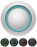 Teclas illumitated redondas em branco Fotografia de Stock