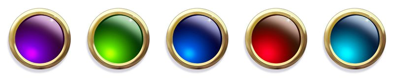 Teclas Jeweled lustrosas do Web Imagens de Stock