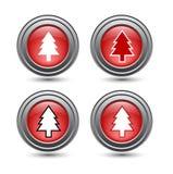 Teclas lustrosas brilhantes do Natal Imagem de Stock Royalty Free