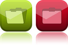 Teclas lustrosas com ícone do dobrador Imagem de Stock Royalty Free