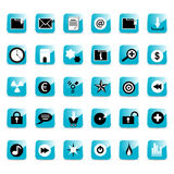 Teclas lustrosas do ícone do Web Imagens de Stock Royalty Free