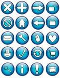 Teclas lustrosas do Internet Imagem de Stock