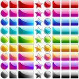 Teclas lustrosas do Web Fotos de Stock