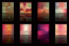 Teclas múltiplas do esquema de cor com reflexão Imagens de Stock Royalty Free