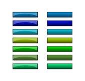 Teclas para o Web - verde azul Imagem de Stock Royalty Free