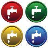Teclas plásticas com uma torneira de água ilustração royalty free