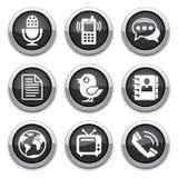 Teclas pretas de uma comunicação Imagens de Stock Royalty Free