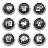 Teclas pretas de uma comunicação Imagens de Stock