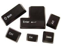 Teclas pretas do teclado Imagens de Stock