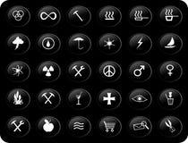 Teclas preto e branco Imagens de Stock