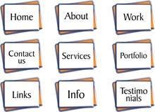 teclas quadradas da navegação Imagens de Stock