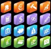 Teclas quadradas da operação bancária 3D Fotos de Stock Royalty Free