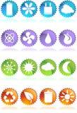 Teclas redondas amigáveis do Web de Eco Imagens de Stock Royalty Free