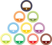 Teclas redondas coloridas Fotografia de Stock Royalty Free