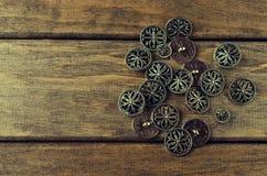 Teclas redondas do metal Fotos de Stock Royalty Free