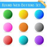 Teclas redondas do Web Imagens de Stock