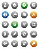 Teclas redondas variadas Imagem de Stock