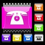 Teclas retangulares do telefone Fotografia de Stock