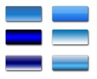 Teclas retangulares do Web Imagem de Stock