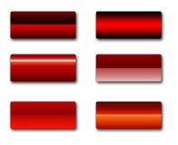 Teclas retangulares do Web Imagem de Stock Royalty Free