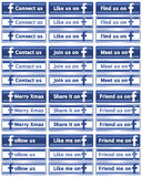 Teclas sociais Assorted de Facebook dos media Fotografia de Stock Royalty Free