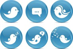 Teclas sociais do ícone da rede Fotos de Stock