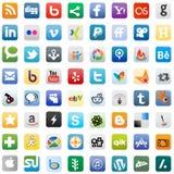 Teclas sociais dos media Fotos de Stock