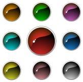 Teclas transparentes do Aqua Imagens de Stock Royalty Free
