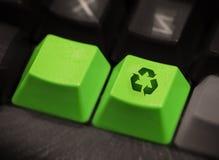 Teclas verdes Imagens de Stock