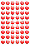 Teclas vermelhas do Web site ilustração stock