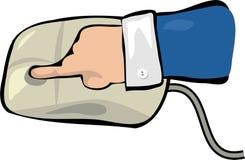 Tecleo de ratón Foto de archivo libre de regalías